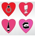 Hearts collection Valentines day vector image vector image