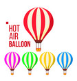 hot air balloon sky travel icon flight vector image