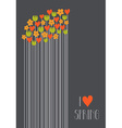I love spring vector image vector image