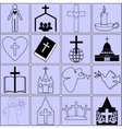icons on the topic of the Bible and Christianity vector image vector image