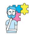 idea working cartoon vector image