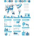 INFOGRAPHIC DEMOGRAPHICS TOY BLUE vector image vector image