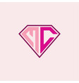initial letter m c logo is diamond
