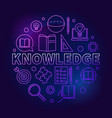 knowledge round colored education outline vector image