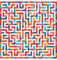 labyrinth pink orange blue maze square vector image