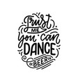 Lettering poster with quote about beer in vintage