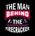 man behind firecracker vector image
