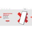 mockup smartphone blank screen vector image vector image