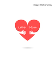 Mother day Icon Logo Holiday Icon Logo Heart Icon vector image vector image