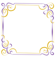Multilayer violet yellow elegant frame vector image vector image