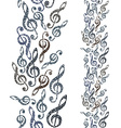 Music theme seamless background vertical vector image vector image