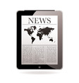 news tablet vector image vector image