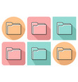 outlined icon folder with parallel and not vector image
