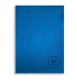 paper folder icon realistic style vector image