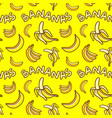 pattern of yellow bananas vector image