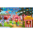 People having fun at the circus vector image