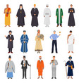 people world religions set vector image vector image