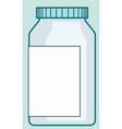 Pharmaceutical plastic bottle vector image vector image