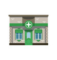 pharmacy drugstore building facade vector image