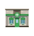 pharmacy drugstore building facade vector image vector image