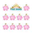 Piggy bank icons vector image