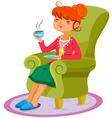 relaxing woman vector image
