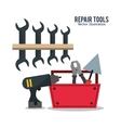 repair tools construction design vector image vector image
