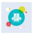 resume employee hiring hr profile white glyph vector image