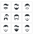 Retro Mens Hair Styles icon set vector image vector image