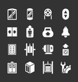 Set icons of elevator and lift vector image vector image