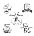 set vintage logos labels and badges cleaning vector image vector image