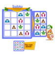 shapes game sudoku iq 2 vector image vector image