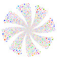 triangles and squares fireworks swirl flower vector image vector image