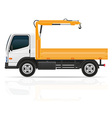 truck with a small crane vector image
