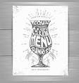 vintage typography cocktail menu design vector image