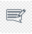 writing message concept linear icon isolated on vector image