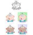 Baby Boy With Open Arms Collection vector image
