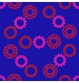 Seamless pattern with circular ornament vector image