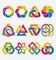 design elements abstract symbol set vector image