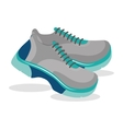 Sport blue shoes vector image
