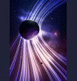 abstract gravity field with planets vector image