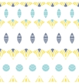 Abstract tribal shapes stripes seamless pattern vector image