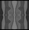 abstract wavy stripes pattern beautiful geometric vector image vector image