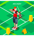 Archery 2016 Summer Games Isometric 3D vector image vector image