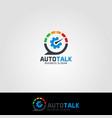 auto talk - auto care consultation logo vector image vector image