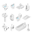 bathroom furniture and equipment isolated objects vector image