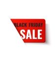 Black Friday Sale - red banner vector image