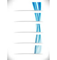 Blue bright speed swoosh line cards set vector image vector image