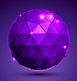 Bright textured plastic spherical object with vector image