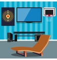 Cartoon office interior vector image vector image